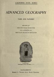 Cover of: Advanced geography, Tarr and McMurry