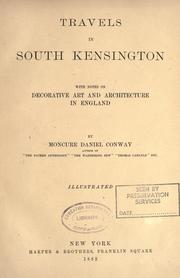 Travels in South Kensington by Moncure Daniel Conway