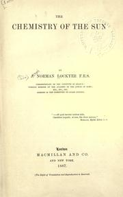 Cover of: Chemistry of the sun | Lockyer Sir Joseph Norman