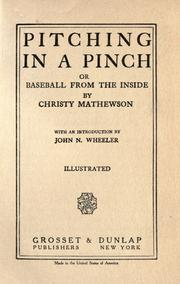 Cover of: Pitching in a pinch