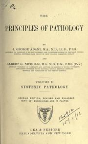 Cover of: The principles of pathology | John George Adami