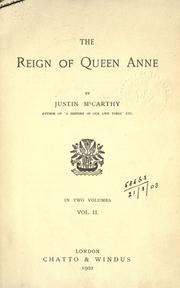 Cover of: The reign of Queen Anne