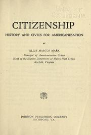 Cover of: Citizenship; history and civics for Americanization