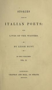 Cover of: Stories from the Italian poets, with lives of the writers