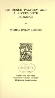 Cover of: The writings of Thomas Bailey Aldrich