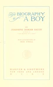 Cover of: The biography of a boy