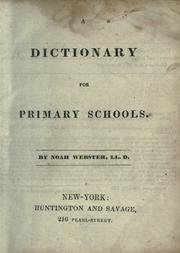 Cover of: A dictionary for primary schools