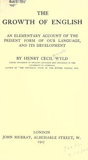 Cover of: The growth of English