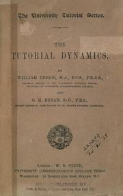 Cover of: The tutorial dynamics