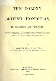 Cover of: The colony of British Honduras
