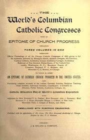 Cover of: The world's Columbian Catholic congresses