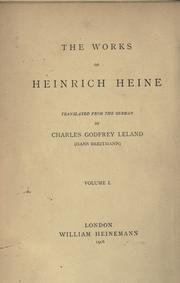 Cover of: The works of Heinrich Heine