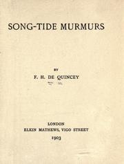 Cover of: Song-tide murmurs