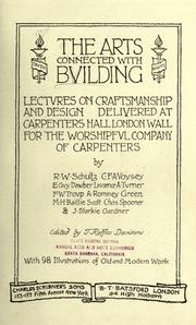 Cover of: The arts connected with building