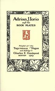 Cover of: Adrian J. Iorio and his book plates