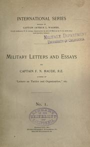Military letters and essays by F. N. Maude