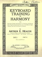 Cover of: Keyboard training in harmony