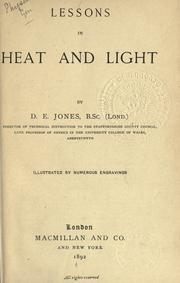 Cover of: Lessons in heat and light