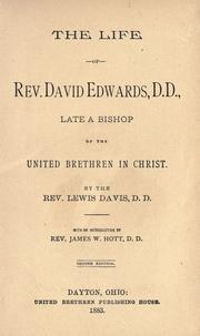 Cover of: The life of Rev. David Edwards