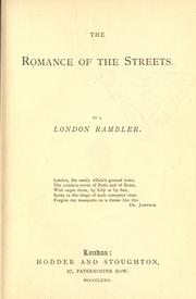 Cover of: The romance of the streets |