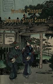 Cover of: Monthly changes of Japanese street-scenes