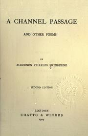 Cover of: A channel passage and other poems