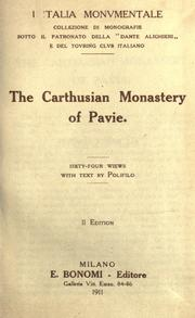 Cover of: The Carthusian monastery of Pavie