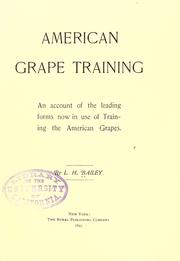 Cover of: American grape training