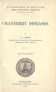 Cover of: Cranberry diseases