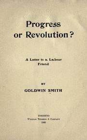Cover of: Progress or revolution: a letter to a Labour friend