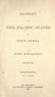 Cover of: History of the Pacific states of North America