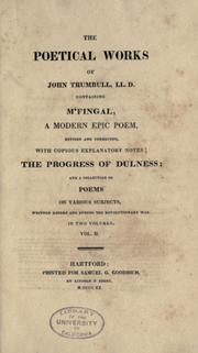 Cover of: The poetical works of John Trumbull, LL. D