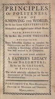 Cover of: Letters to his son