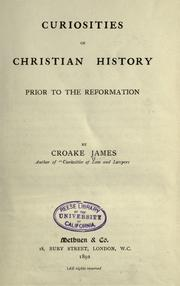 Cover of: Curiosities of Christian history