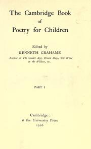 Cover of: The Cambridge book of poetry for children