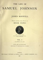 Cover of: The life of Samuel Johnson by James Boswell