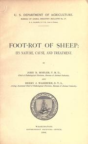 Cover of: Foot-rot of sheep | John R. Mohler