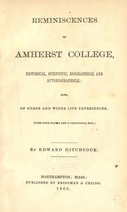 Cover of: Reminiscences of Amherst College