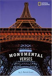 Cover of: Monumental Verses