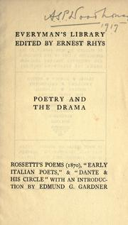 Cover of: Poems & translations