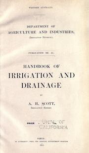 Cover of: Handbook of irrigation and drainage