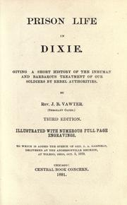 Cover of: Prison life in Dixie