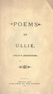 Cover of: Poems by Ullie |