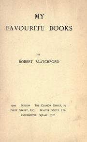 Cover of: My favourite books
