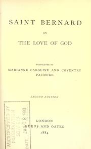 Saint Bernard on the love of God by Bernard of Clairvaux, Saint