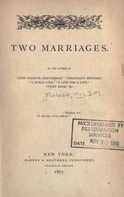 Cover of: Two marriages