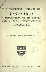 Cover of: The cathedral church of Oxford