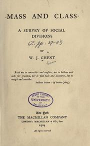 Cover of: Mass and class
