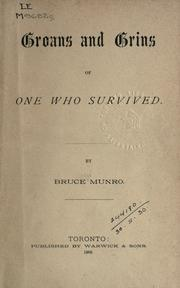 Cover of: Groans and grins of one who survived