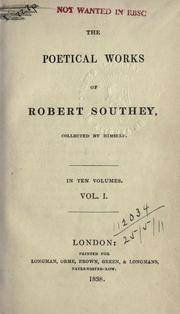 Cover of: The poetical works of Robert Southey, collected by himself